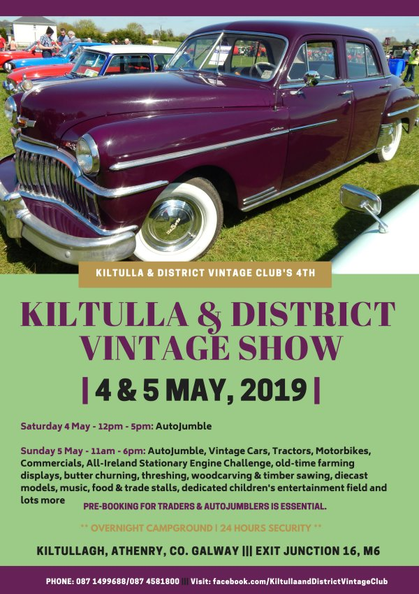 Next Weekend it's all happening in Kiltulla