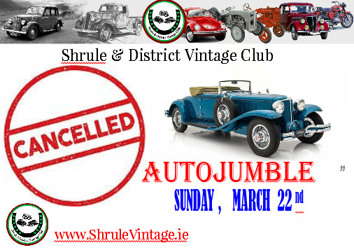 Autojumble CANCELLED again due to COVID-19